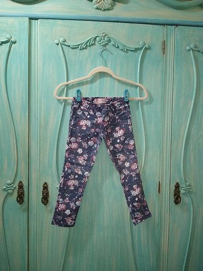 Calça jeans floreada Palomino - Tam 4