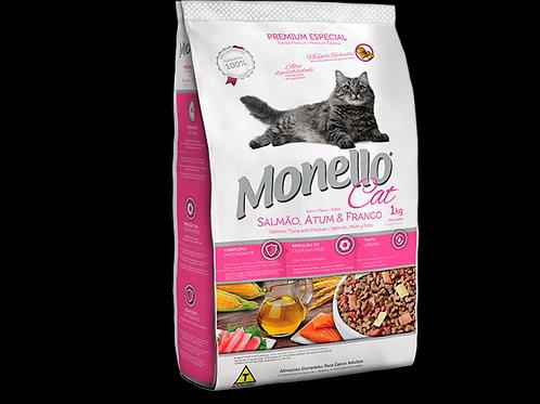 Ração Gatos Monello 1Kg  Salsao Atum Frango