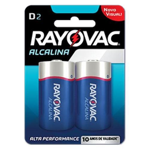 Pilha Rayovac D2 Alcalina