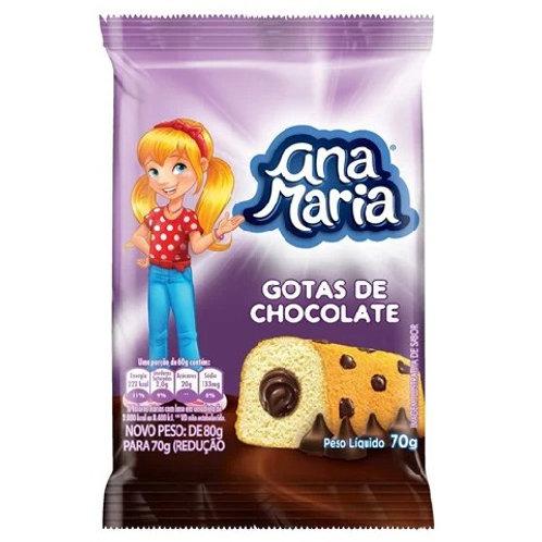 Bolo Ana Maria 70g  Gotas Chocolate