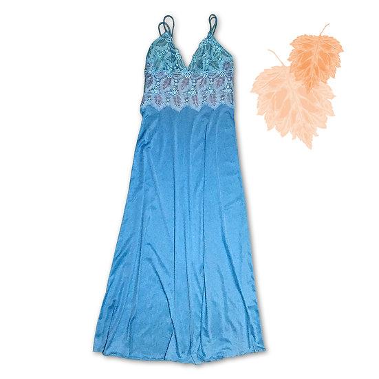 Camisola Azul com Robe de Chambre