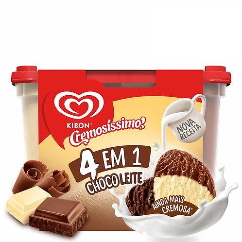 Sorvete Kibon Cremosissimo 2L Choco 4Em1