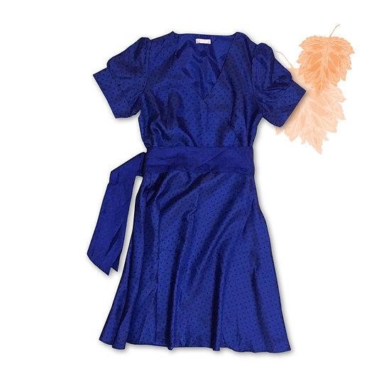 Vestido Azul com Bolinhas