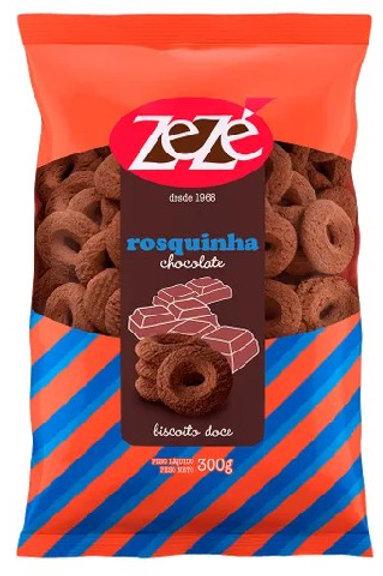 Biscoito Zezé 300g Rosq Chocolate