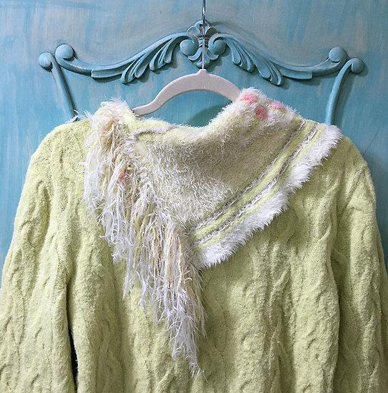 Blusão de lã com gola tipo lenço - tam 42