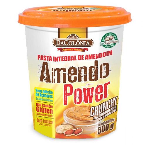 Pasta de Amendoim Amendo Power 500g Crunchy