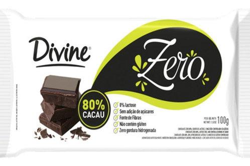 Chocolate Divine Zero 80% Cacau 100g