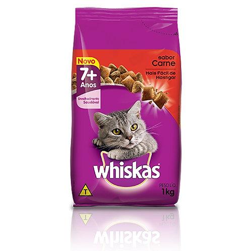 Ração Gatos Whiskas 1Kg +7 Carne