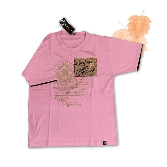 Camiseta Rosa Firefox - Tam M