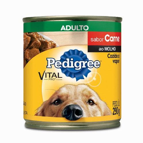 Ração Cães Pedigree Lata 290g  Carne