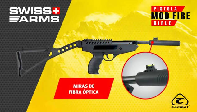 Combat - Pistola Swiss Arms Mod Fire
