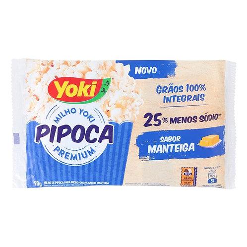 Milho Pipoca Micro Yoki 90g  Manteiga