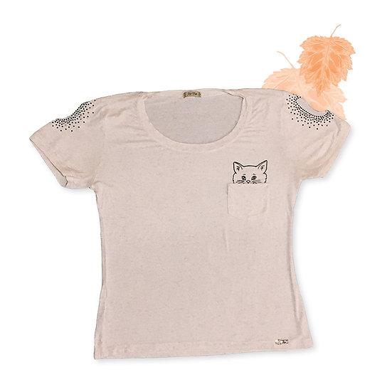 Camiseta Branca Fogo Duplo