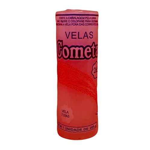 Vela 7 Dias Cometa 1 Cores 265g  Vermelho