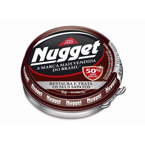 Cera Calçado Pasta Nugget 36g  Marrom