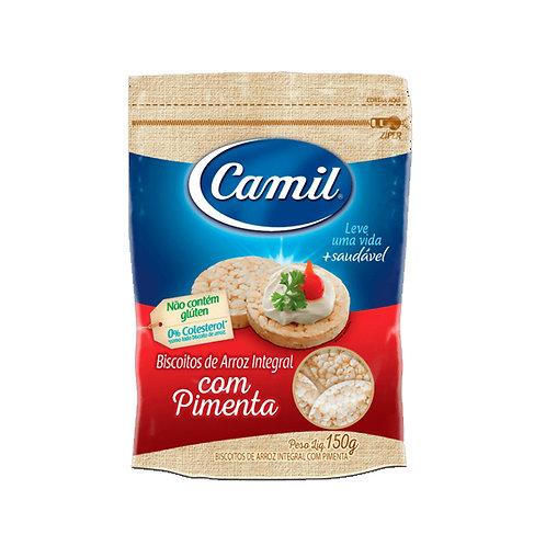 Biscoito de Arroz Integral Camil 150g Pimenta