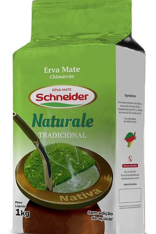 Erva Mate Schneider 1Kg Naturale Tradicional Vácuo