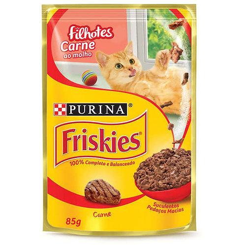 Ração Gatos Friskies Sachê 85g  Filhote Carne
