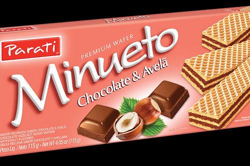 Wafer Minueto Parati 115g Choco Avelã