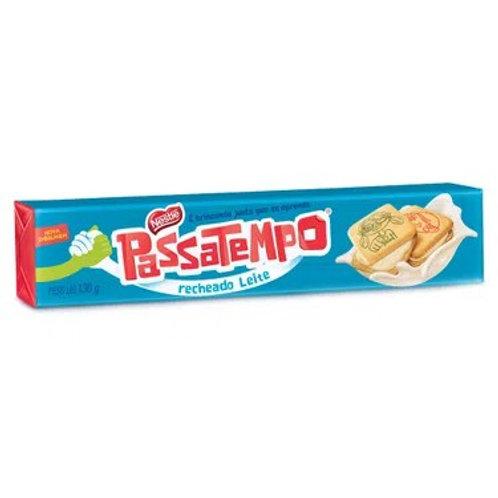 Biscoito Recheado Passatempo 130g  Leite