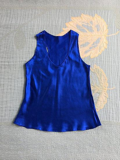 Regata de Cetim Azul - Tam M
