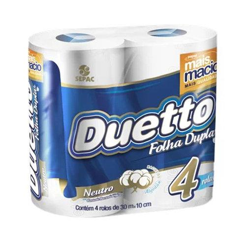 Papel Higiênico Duetto 4Un 30M  Neutro