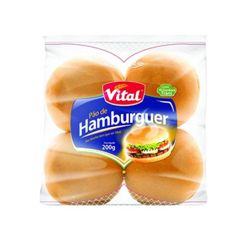 Pão de Hamburguer Vital 200g Sem Gergelim