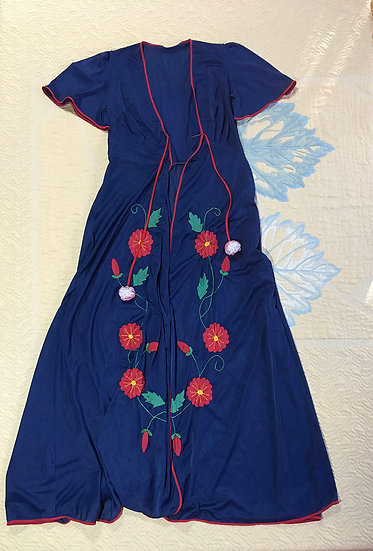 Lindo conjunto camisola + roupão vintage - Tam 34