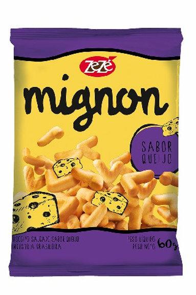 Biscoito Mignon Zezé 60g  Queijo