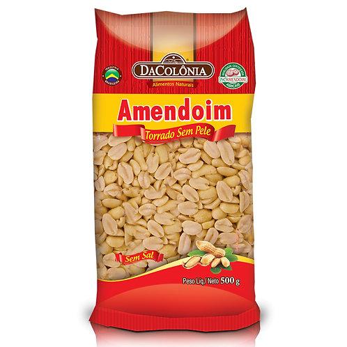 Amendoim Da Colonia 500g Torrado Sem Pele