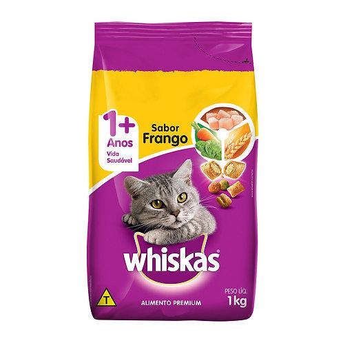 Ração Gatos Whiskas 1Kg Frango E Leite