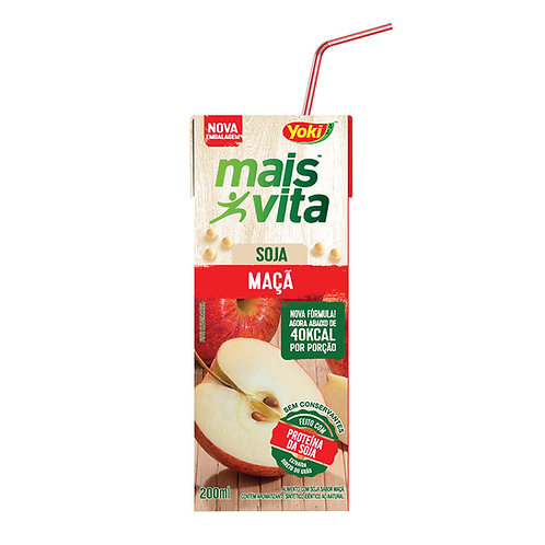 Alimento Soja Mais Vita 200ml  Maçã