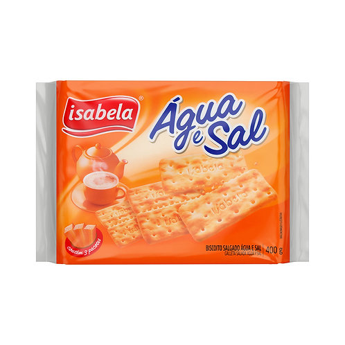 Biscoito Isabela 400g Agua E Sal