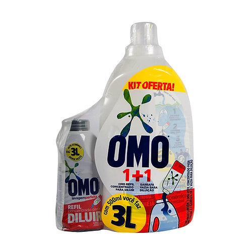 Detergente Líquido Omo Diluir 500ml+Gf 3L Vazia