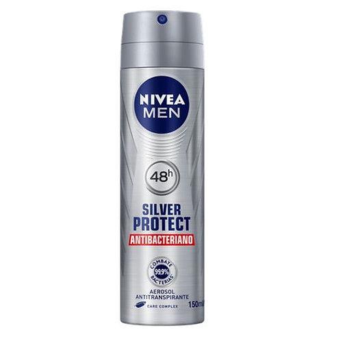 Desodorante Aerosol Nivea Men 150ml  Silver Protect Antibacterial