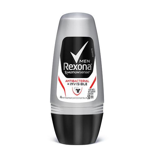 Desodorante Rolon Rexona 50ml  Men Antibacterial Invisible