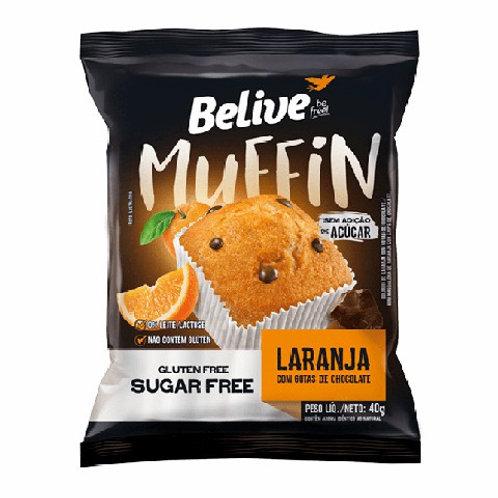 Muffin Believe 40g  Laranja Gotas Chocolate