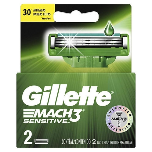 Refil Gillette Mach3 2Un  Sensitive