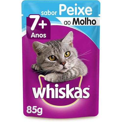 Ração Gatos Whiskas Sachê 85g  Peixe +7