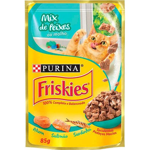 Ração Gatos Friskies Sachê 85g  Mix Peixe