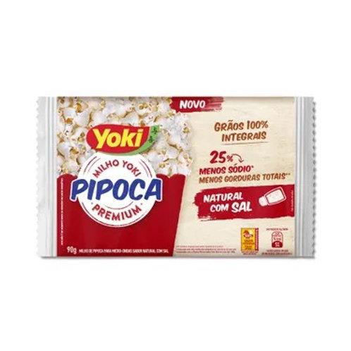 Milho Pipoca Micro Yoki 90g  Natural C/Sal