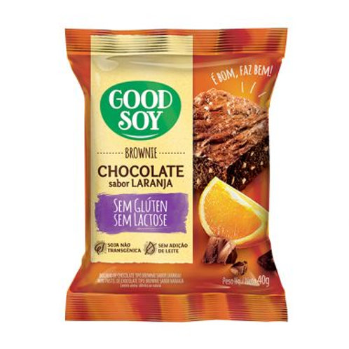 Brownie Good Soy 40g Chocolate e Laranja