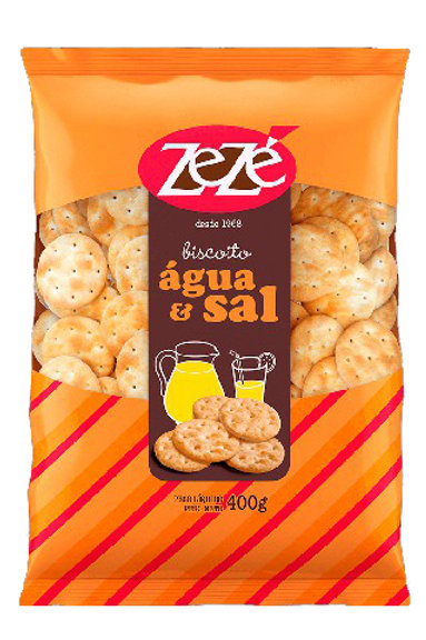 Biscoito Zezé 400g Agua/Sal