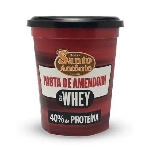 Pasta de Amendoim Santo Antonio 500g C/Whey