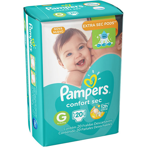 Fralda Pampers Confort Sec  20Un G