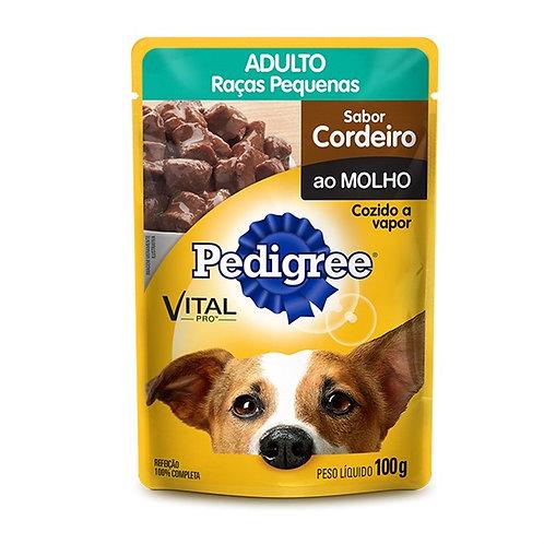 Ração Cães Pedigree 100g Adulto Cordeiro Molho