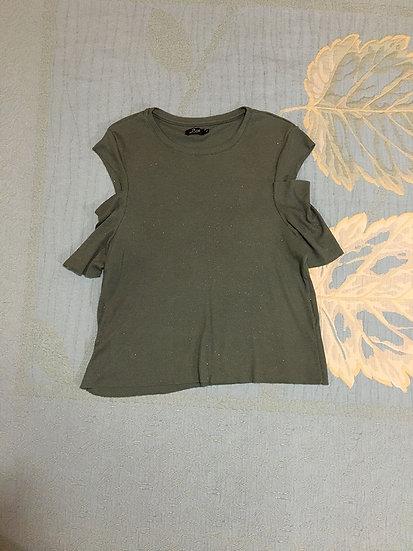 Camiseta com Ombro Vazado Lab  - Tam P