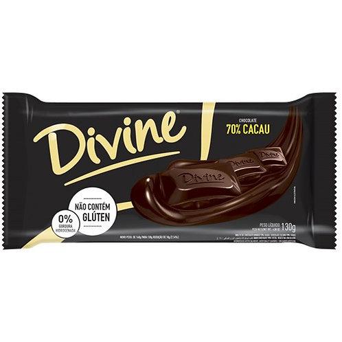 Chocolate Divine 70% Cacau  130g Tradicional