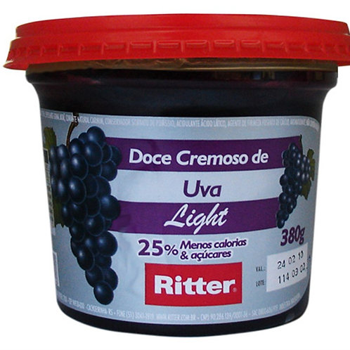 Doce de Fruta Ritter 380g Light Uva  Uva