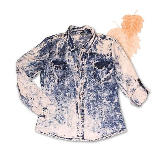 Camisa Jeans Manga Longa - Tam 38